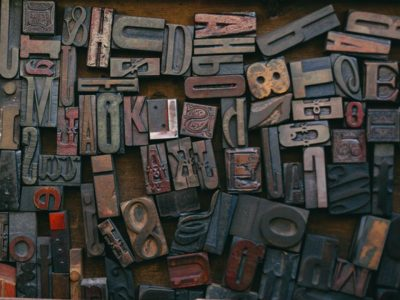 Plain English wooden letters